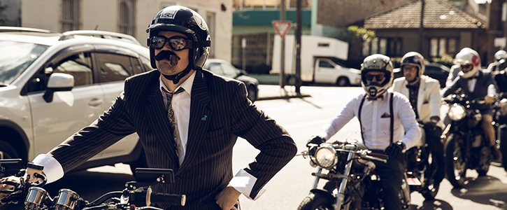 The Gentlemans Ride is a classic caferacer bobber ride where motorcycles and owners dress in dapper and jointhegentry